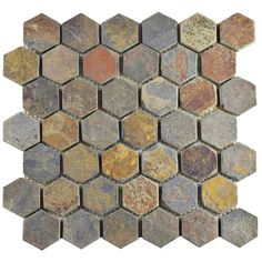 "Found it at Wayfair - Peak Hexagon 1.88"" x 1.88"" Slate Mosaic Tile in Gray"