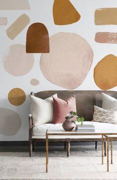 The Camel Circular Abstract Design Hall, Design Design, Bedroom Decor, Wall Decor, Kallax, Vinyl Wall Stickers, Wall Vinyl, New Room, White Walls