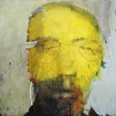Catherine Woskow HEAD SERIES 14 2010 acrylic and mixed media on wood panel 48 x… Abstract Faces, Abstract Portrait, Portrait Art, Figure Painting, Painting & Drawing, Mellow Yellow, Yellow Art, Portraits, Face Art