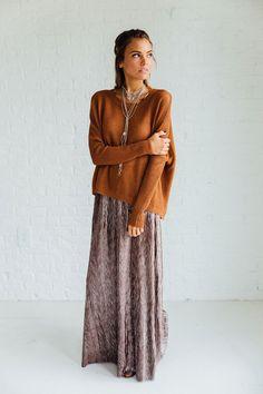 Allure Copper Sweater | Clad & Cloth Apparel