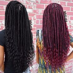 Faux Locs With Feathered Ends