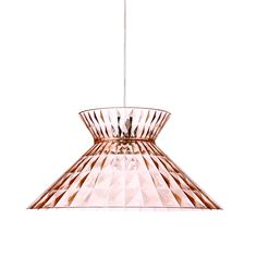 Luxury Designer Sugegasa Suspension Lamp - Italian Designer Lighting that recalls the fabulous Living Coral PANTONE Color of the Year 2019.