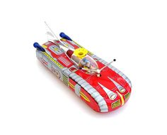 Vintage Toys Tin Litho Space Ship Atomic Toy by OceansideCastle