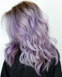 Medium+Layered+Pastel+Purple+Hair