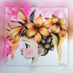 Lily . Coloriage Wild by Emmanuelle Colin