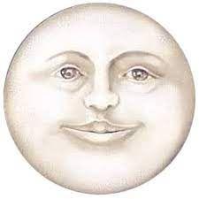 Sun Moon Stars, Sun And Stars, Luna Moon, Vintage Moon, Moon Face, Man On The Moon, Moon Child, Vintage Halloween, Painted Rocks