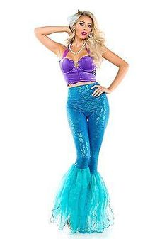 2018 Women's Fantasy Mermaid Costume and more Fantasy Costumes for Women, Mermaid Costumes for Women, Women's Halloween Costumes for Mermaid Fancy Dress Costume, Mermaid Halloween Costumes, Little Mermaid Costumes, Mermaid Outfit, Couple Halloween Costumes, Pirate Costumes, Adult Costumes, Mermaid Pants, Mermaid Leggings