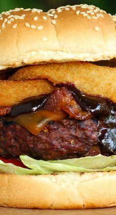 Cheesy Bacon Cowboy Burger Recipe