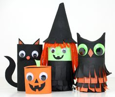 Halloween Toilet Paper Roll Dolls.