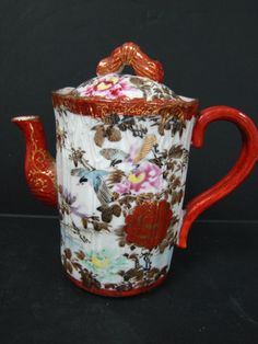 chocolate pot and cups antique - Bing Images