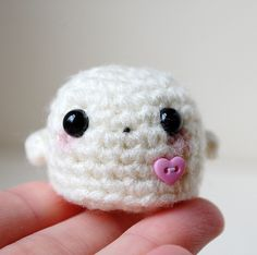 RESERVED Listing Kawaii Ghost Mini Amigurumi by twistyfishies, $6.00