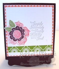 Rachel's Stamping Place; Stampin' Up big shot pop up card outside