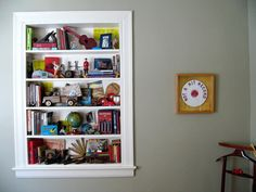 {shelf in a window} where there was once a window, there is now a shelf. awesome idea!