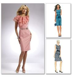 Laura Ashley Fitted Sheath Dress Pattern McCalls by PatternParlor, $5.95