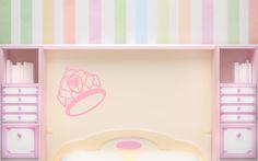 Sticker ombre chinoise diadème de princesse - http://www.enchanted-colors.com