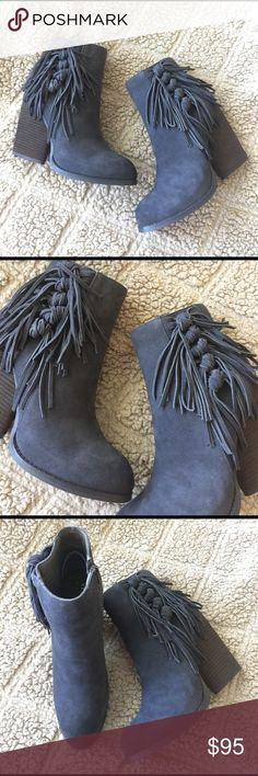 NEW!!!  VERY VOLATILE FRINGE TASSEL ANKLE BOOTS Brand new without tags!  $119.95 LEATHER!  Amazing tassel and side fringe knot detailing!  STATEMENT BOOTS, BOOTIES, HEELS!!!  Size 8.5 & YOU WILL ❤️❤️❤️!  Side zip for easy entry!  AX203SX17NR Very Volatile Shoes Ankle Boots & Booties