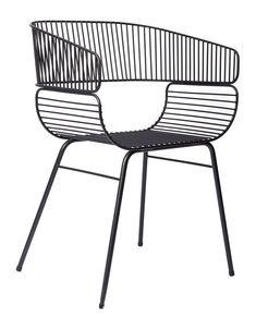 Fauteuil Trame / Métal Noir - Petite Friture - Décoration et mobilier design avec Made in Design