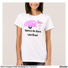 Retro Camper Pink Flamingo T-Shirt