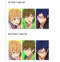 71 Likes, 1 Comments - & bizarre memes& ( on Instagra. Anime Boys, Otaku Anime, Anime Meme, Manga Anime, Anime Art, Free Eternal Summer, Haikyuu, Nagisa Free, Rei Ryugazaki