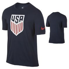 Nike  USA  Crest Soccer Tee (Obsidian 2016): http://www.soccerevolution.com/store/products/NIK_43262_A.php