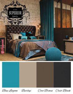 to decor bedroom diy decor hotel style decor farmhouse House Color Schemes, Living Room Color Schemes, Living Room Colors, Bedroom Colors, House Colors, Living Room Decor, Bedroom Decor, Teal Living Rooms, Home Decor Colors
