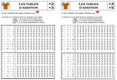 Maths on pinterest multiplication math and place values - Apprendre les tables d addition ...