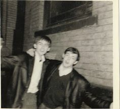George Harrison and Paul McCartney (very young)