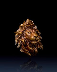 Brass Master Home decor sculpture - Metal crafts ornaments statue - Lion Face 3020713 Special Price: $1039.00 Links: http://www.amazon.com/gp/product/B00KK3IVPS