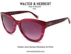 Walter and Herbert Roddick Pink Sunglasses, England, English, British, United Kingdom
