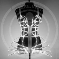Rave LED light up Cage dress outfit / fashion festival costume clothing – from ETERESHOP – Top Trend – Decor – Life Style Light Up Clothes, Model Sketch, Festival Costumes, Led Dress, Drag, Fashion Lighting, Costume Dress, Festival Fashion, Burlesque