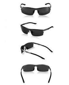 4a2c4475d6357 Mens Sport Sunglasses Polarized Wayfarer Shades Al-Mg Eyewear Driving - Gun  Frame black Gray Lens - CP185XQ09HE