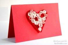 Quilled Heart - Valentines Cards