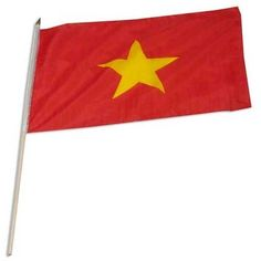 "Vietnam Flag 12 x 18 inch by US Flag Store. $2.20. Mounted to a 24"" Wooden Stick. Brilliant Colors Printed on Polyester Fabric. Low Cost Shipping Available!. Sewn Edges. International 12in x 18in Stick Flag. Vietnam stick flag 12 x 18 inch, mounted on a 24 inch wooden stick. Flag is made from polyester and printed in bright colors to make an attractive flag. Each flag is individually sewn around the edges.. Save 31%!"