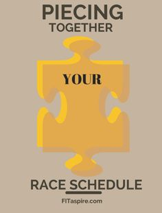 Creating Your Race Schedule