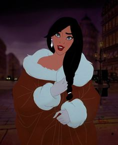It's a rumor. A legend. A mystery! I wanted to know what Princess Anastasia would look like with raven black hair, so. here's the finished edit. Fur coats and diamonds. Black Cartoon, Cartoon Icons, Vintage Cartoon, Girl Cartoon, Cute Cartoon, Cartoon Art, Cartoon Characters, Disney Aesthetic, Aesthetic Anime