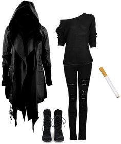 """Reaper"" by burymeinleather ❤ liked on Polyvore"