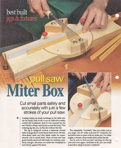 #1469 DIY Pull Saw Miter Box - Woodworking Hand Tools