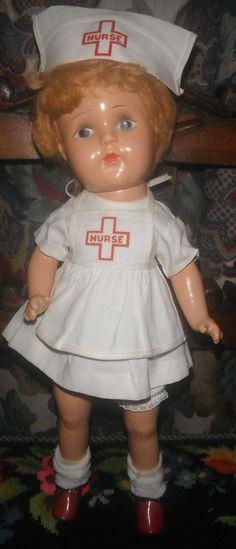 Composition Nurse doll c. 1940's