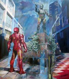 When Iron man visits Detroit