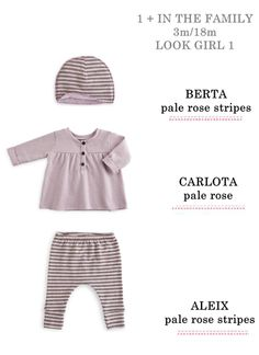 ..e per le più piccole, un tenero #outfit firmato #1+in the family…