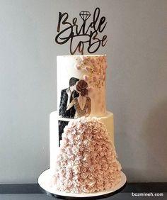 ایده های ناب برای جشن شما wedding cakes cakes elegant cakes rustic cakes simple cakes unique cakes with flowers Big Wedding Cakes, Beautiful Wedding Cakes, Wedding Cake Designs, Wedding Cake Toppers, Beautiful Cakes, Amazing Cakes, Elegant Wedding, Rustic Wedding, Cupcake Cakes