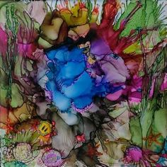 Jacque's World Alcohol Ink Painting on by SugarbirdCreations