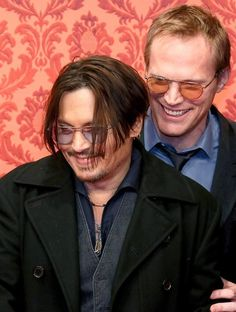 Johnny Depp and Paul Bettany promoting the movie Mortdecai in Berlin January 2015.