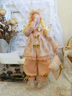 Купить Тильда Сонный Ангел Сплюшка - текстильная кукла . - кукла Тильда, кукла ручной работы
