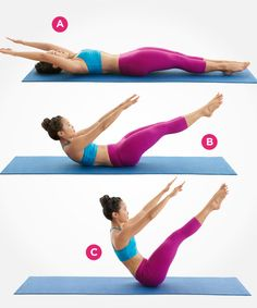 This challenging Pilates move can help sculpt your core! Click for 8 more awesome exercises to flatten your stomach: http://www.womenshealthmag.com/fitness/pilates-abs?cm_mmc=Pinterest-_-womenshealth-_-content-fitness-_-9pilatesmovesforflatterabs