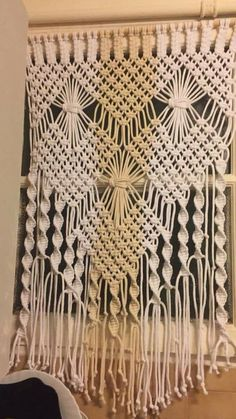 Macrame window panel