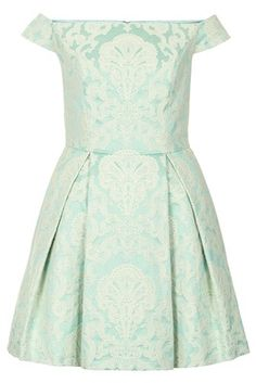 Topshop Debutante shoulder dress