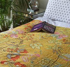 Oriental Garden Kantha Bedspread
