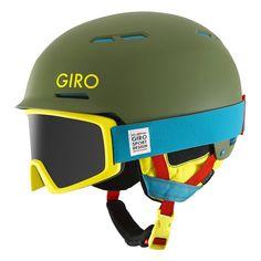 Topo Designs x Giro snowboard helmet + goggles