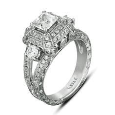 Vanna K Diamond: Round .75 Carat(not including 1 Carat center stone)